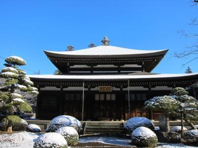 Senzoji in the snow